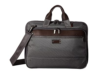 Briggs & Riley @work Medium Expandable Brief (Grey) Briefcase Bags