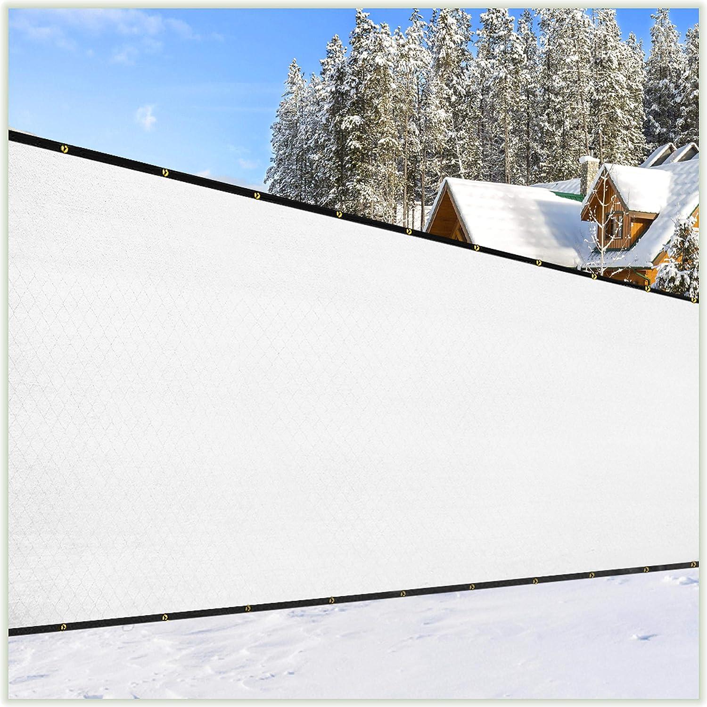 10x12 White Fence Privacy Screen Windscreen Shade Cover Mesh Sun Shade