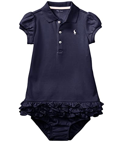 Polo Ralph Lauren Kids Ruffled Polo Dress Bloomer (Infant) (French Navy) Girl