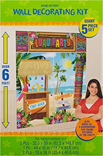 Amscan Tiki Party Scene Setters Wall Decorating Kit