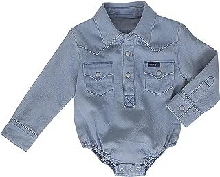 Baby Boys' Long Sleeve Denim Bodysuit