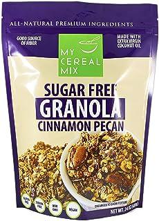 Sugar Free Granola - Cinnamon Pecan (Non-GMO, Gluten Free, Soy Free, Sodium Free, No Sugar Alcohols, All Natural Ingredien...