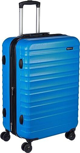 Amazon Basics Valise de voyage à roulettes pivotantes, Bleu clair, 68 cm