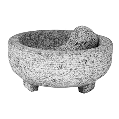 Vasconia 5031764 4-Cup Granite Molcajete Mortar and Pestle