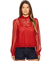 The Kooples - Vintage Lace Top with Buttons