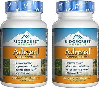 RidgeCrest Herbals Adrenal Fatigue Fighter, Adaptogen Stress Support, 60 Vegetarian Capsules (2 Pack)