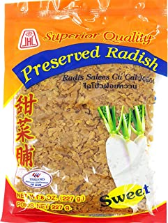 CHOPPED or MINCED SWEET Preserved Radish/Turnip (8 Ounces) Product of Thailand