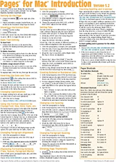 Pages for Mac Quick Reference Guide, version 5.2: Introduction (Cheat Sheet of Instructions, Tips & Shortcuts - Laminated Card)