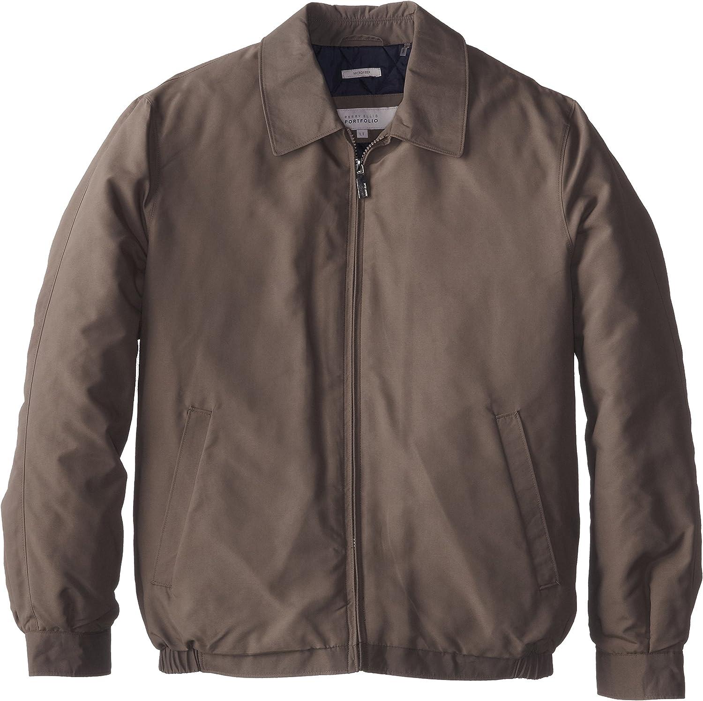 Perry Ellis Men's Size Tall Microfiber Shirt Collar Jacket