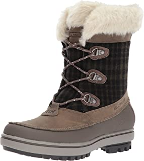 Helly Hansen Women's Georgina Winter Boot with Faux-Fur and Grip, Goose/Bungee Cord/Natural, 8
