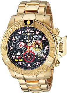 Invicta Men's Disney Limited Edition Analog-Quartz Watch with Stainless Steel Strap, Gold, 24 (Model: 24504)