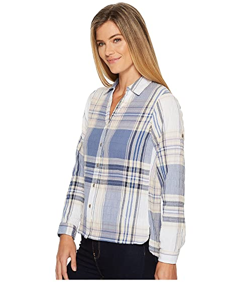 Indigo Vibrant Camisa Carabelle Eco descapotable Woolrich Rich xqvYP
