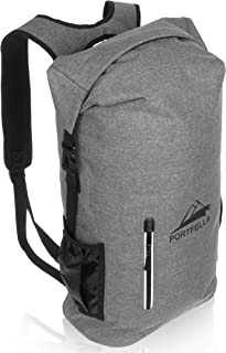 Portfella Backpack Heavy Duty 30L Dry Bag - Outdoor Hiking Travel Backpack Waterproof Rolltop - Camping Daypack for Men - Water Resistant Backpack Padded - Fishing, Boating, Rafting, Kayaking Gear