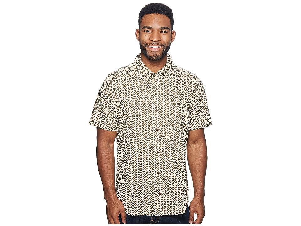 Toad&Co Fletch Print Short Sleeve Shirt (Salt Birdseye Print) Men