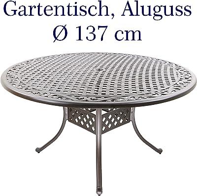 Klapptisch Faro Alu rund 60 cm mit Sicherheitsglasplatte Tisch Gartentisch