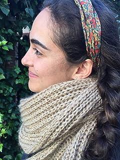 Calentita y larga bufanda unisex, color beige, para hombre o mujer