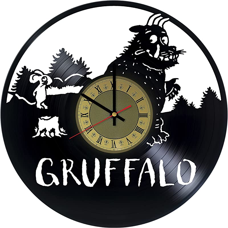 Grufalo Vinyl Wall Clock Unique Gifts Living Room Home Decor