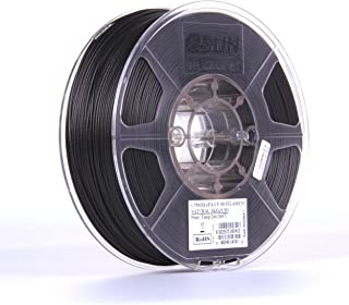 eSUN 1.75mm ePA-CF Carbon Fiber Filled Nylon Filament 1KG (2.2lb) Spool for 3D Printers, 1KG. Black