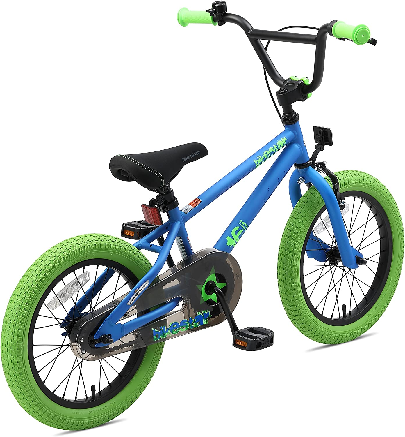 BIKESTAR Safety Sport Kids Bike Bicycle for Kids Age 4-5 Year Old Children 16 Inch BMX Edition for Boys and Girls