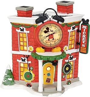 Department 56 Disney Mickey's Alarm Clock Shop Village Lit Building, Multicolor
