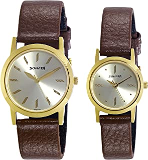 Sonata Analog Gold Dial Men's Watch-NK71178137YL01