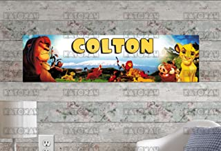 Customized Name Painting The Lion King Poster With Your Name On It Personalized Banner