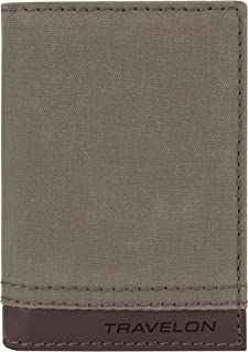 Travelon Travelon RFID Blocking Courier Slim Wallet, Stone Gray (Gray) - 33302-840