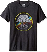 Star Wars Classic Logo and Tie Fighter Men's Short Sleeve T-Shirt