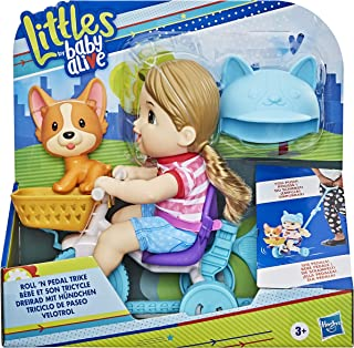 Baby Alive Littles, Roll �n Pedal Trike, Doll Tricycle with Push-Stick, Little Jade Doll, Pet Accessory, Toy for Kids 3 Years Old and Up