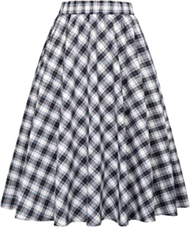 Best grid print mini skirt Reviews
