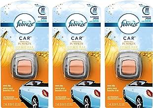 Febreze Car Vent Clip Air Freshener - Fresh-Fall Pumpkin - Holiday Collection 2017 - Net Wt. 0.06 FL OZ (2 mL) Per Vent Clip - Pack of 3 Vent Clips