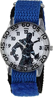 MARVEL Boys Avengers Analog-Quartz Watch with Nylon Strap, Blue, 16 (Model: WMA000230
