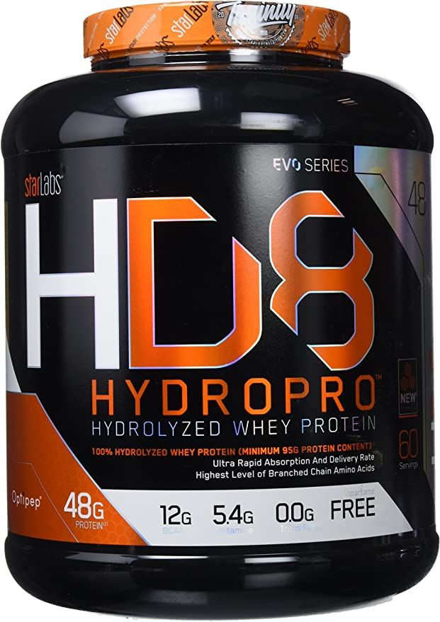 Starlabs Nutrition HD8, 100% Proteína Hidrolizada, Vainilla, 1800g