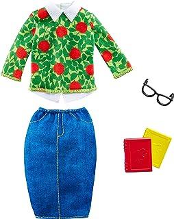 Barbie Fashions - szkolny fajny strój nauczyciela lalka Barbie z książkami i okularami