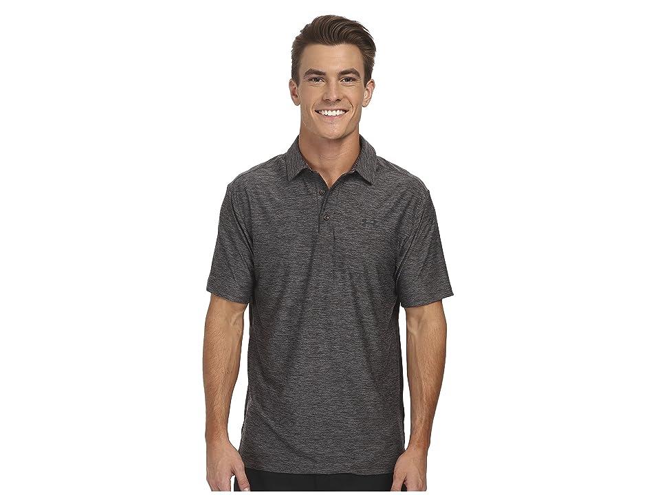 Under Armour Golf UA Playoff Polo (Carbon Heather/Black) Men