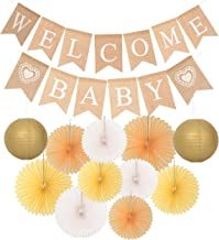 Welcome Baby Party Decoration   Rustic Welcome Baby Burlap Banner   Baby Shower Decorations   Burlap Banner Welcome Baby   Gender Reveal Boy Girl Party Supplies by MEANT2TOBE