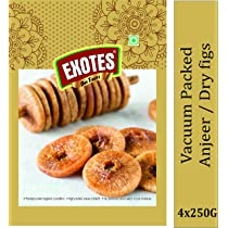 EXOTES, Anjeer Dry Figs Pouch g Pack of 4x250s, Natural, 1000 Gram