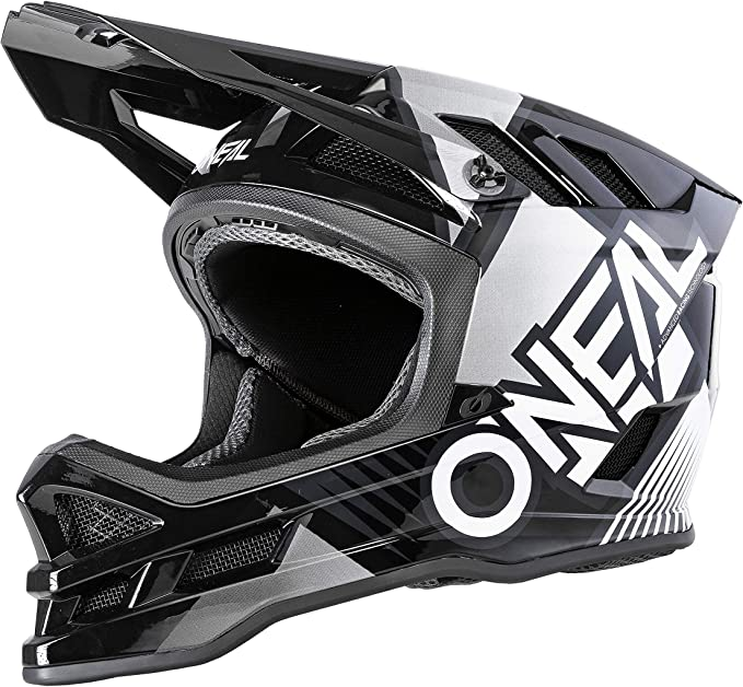 Oneal Blade Polyacrylite Helm Delta Black White Mx Motocross Helm Sport Freizeit