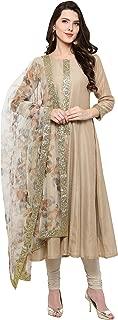 AHALYAA Women's Net Anarkali Kurta (Peach)