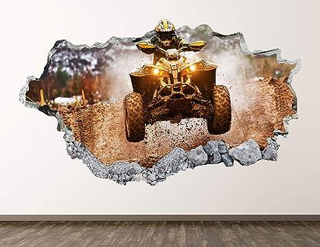DETAILED ATV 4 FOUR WHEELER GRAPHIC DECAL STICKER ART CAR WALL DECOR