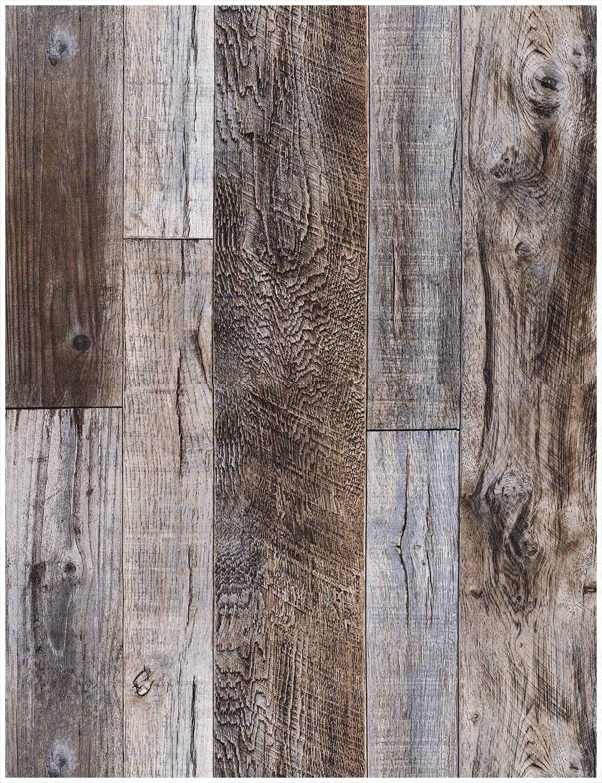 "wallpaper mural amazon comhaokhome 5003 weathered faux wood plank wallpaper slategray brown 20 8\"" x 31ft barnwood wallpaper"