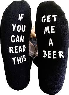 If You Can Read This Beer Socks NON SLIP Men's Novelty Socks