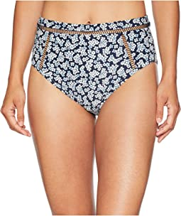 High-Waisted Bikini Bottoms w/ Ladder Insert