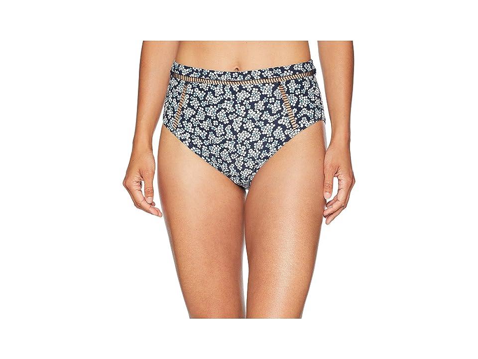 1fd1fb5202163 MICHAEL Michael Kors High-Waisted Bikini Bottoms w  Ladder Insert (New Navy)