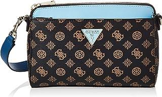 Guess Womens Cross-Body Handbag, Brown/Blue - SP729114