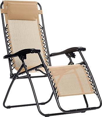 Amazon Basics Zero Gravity Chair, Beige