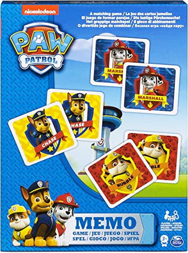 Paw Patrol Memo Game In Smaller Box Kids Games For 3 Years Above