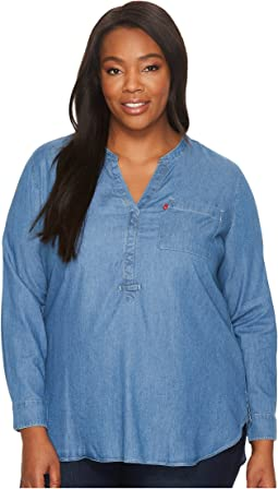 Levi's® Plus - Plus Size Easy Popover Long Sleeve Woven
