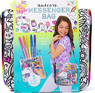 Just My Style Color Your Own Unicorn Messenger Bag by Horizon Group USA