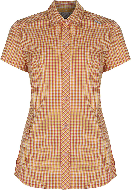 Regatta Great Outdoors Womens/Ladies Honshu Grid Check Short Sleeve Shirt